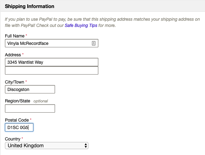 How Do I Change My Shipping Address? – Discogs